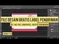 File Desain Label Pengiriman Paket Gratis