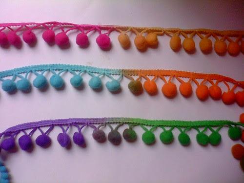 Rainbow pom-poms!