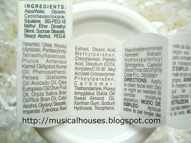 Kiehls Ultra Facial Cream ingredients