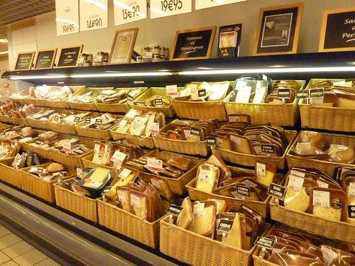 Partial cheese selection