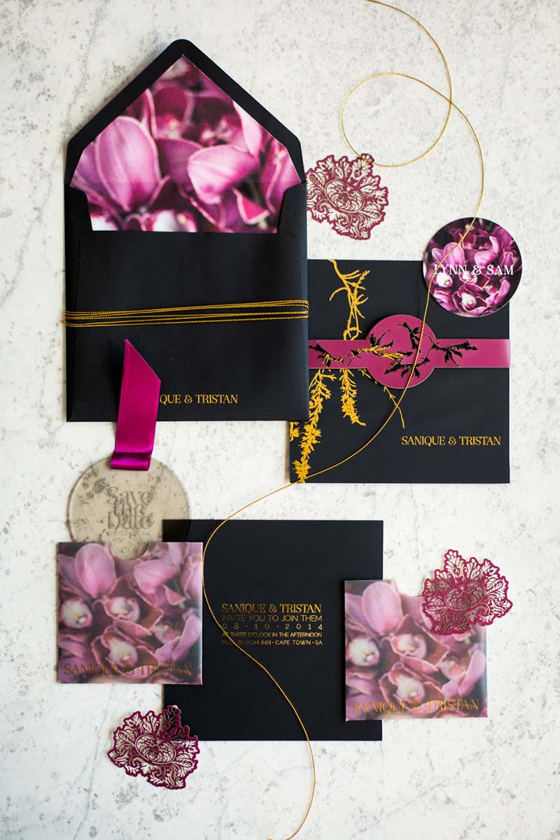 K'Mich Weddings - wedding planning - Botanical Invitation - Secret Diary