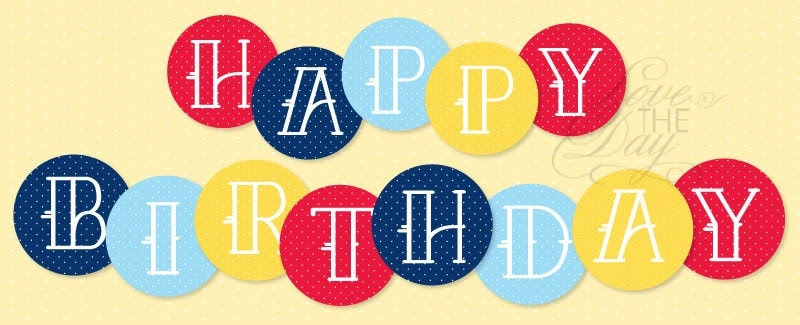 Birthday Party PRINTABLE Polka Dot Happy Birthday Banner (INSTANT ...