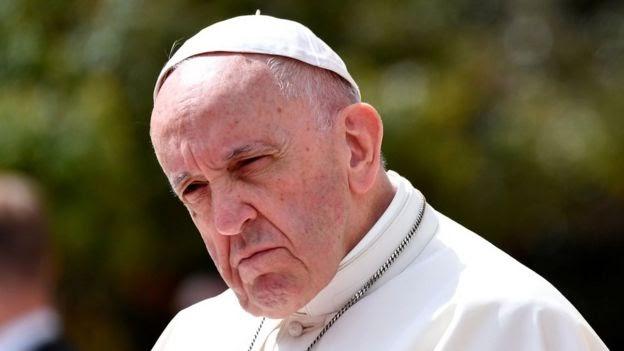 El papa Francisco en Bogotá.