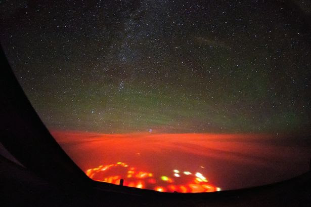 Mysterious Red Glow over the Atlantic