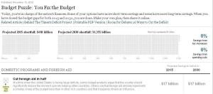 Budget Puzzle: You Fix the Budget - Interactive Feature