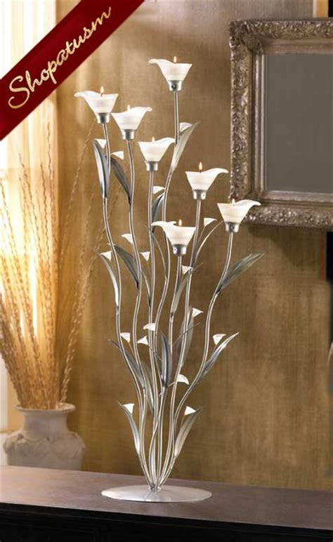 large floral wedding centerpiece silver calla lily