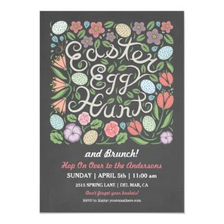 Chalkboard Easter Egg Hunt and Brunch Card