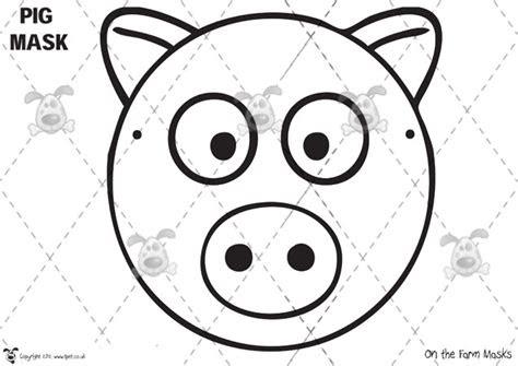 images  farm animal mask template  print