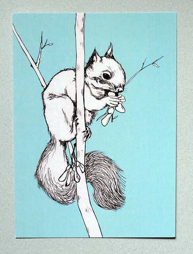Squirrel postcard #2