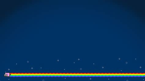 nyan cat simple background blue rainbows cat wallpapers hd