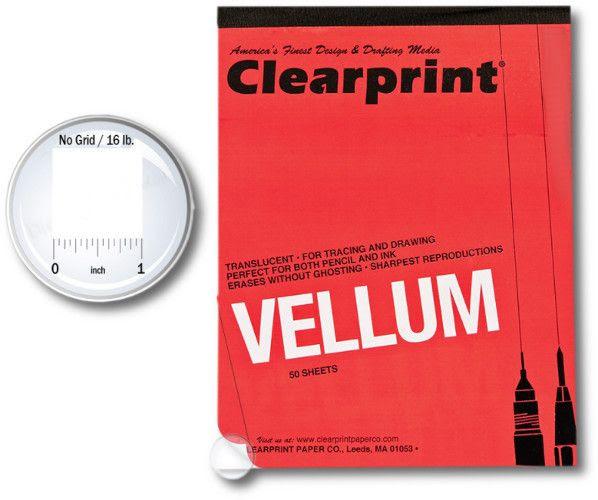 Clearprint 10001416 Series 1000hp 11 X 17 Unprinted Vellum Design