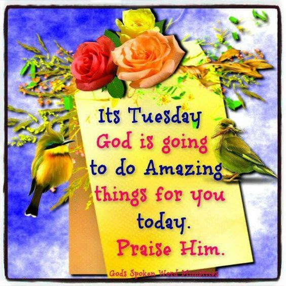 Tuesday God Is Going To Do Amazing Things For You Today Pictures
