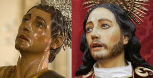 Imagen de San Juan Evangelista de la Hermandad de San Francisco, atribuido a Goméz del Castillo y el San Juan del Descendimiento, de León Ortega.