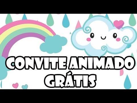 Convite Animado Virtual Grátis Chuva De Amor Rosa Sua Festa Digital