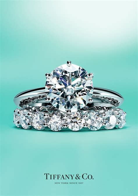 The Tiffany® Setting engagement ring and Tiffany Embrace