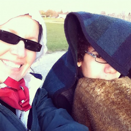 freezing at soccer and loving every minute of it.