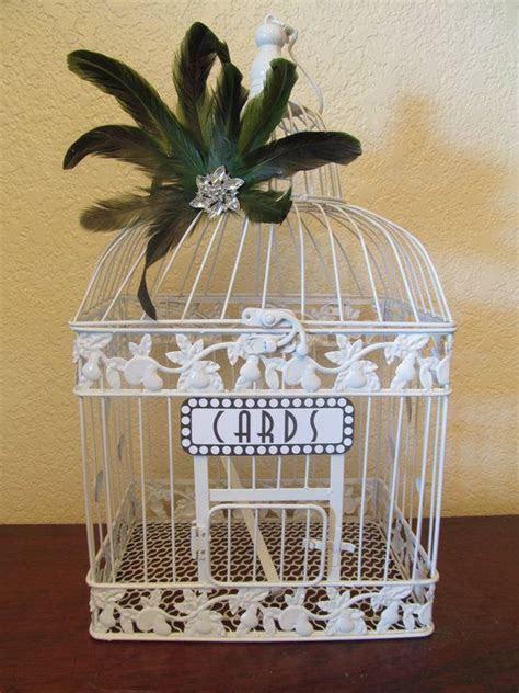 Art Deco Wedding Card Box / Bird Cage by