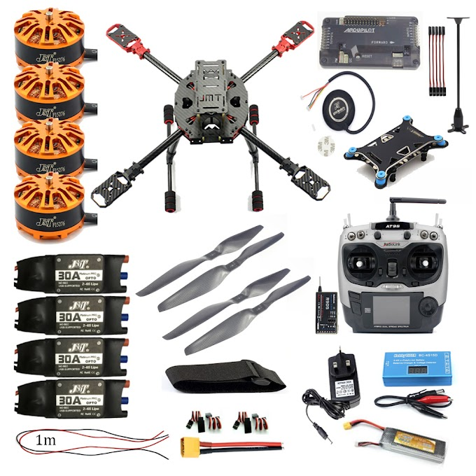 Full Kit FPV DIY 2.4GHz 4-Aixs RC Drone APM2.8 Flight Controller M7N GPS 630MM Carbon Fiber Frame Props with AT9S TX Quadcopter