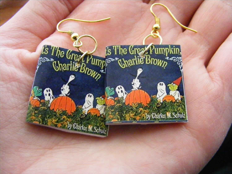 Earrings Great Pumpkin Charlie Brown
