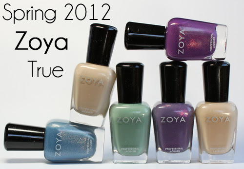 zoya true spring 2012 nail polish collection Zoya True Spring 2012 Nail Polish Collection Swatches & Review