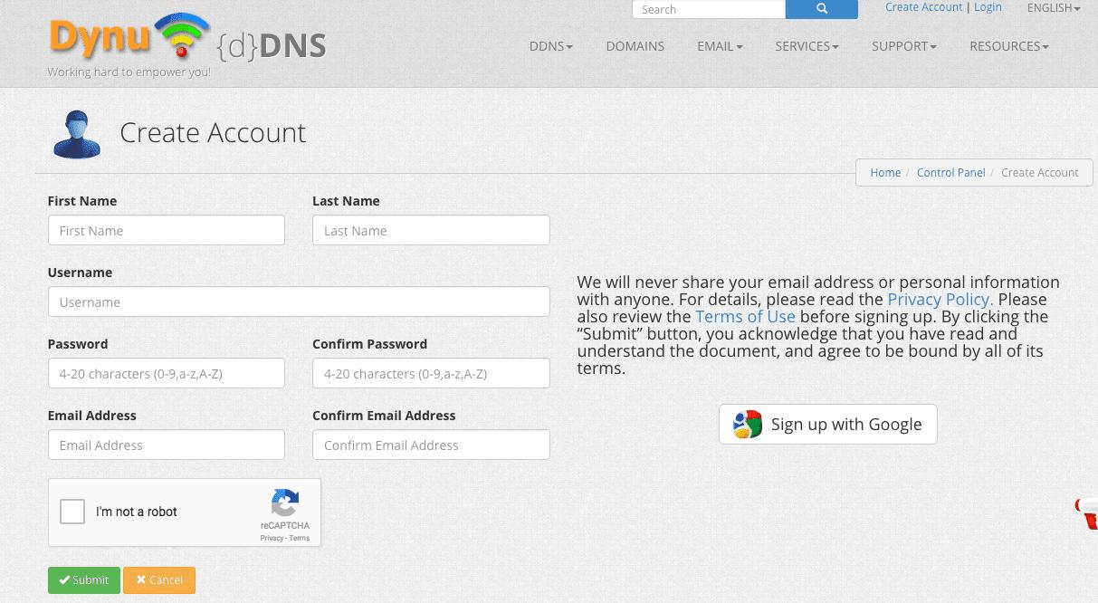 الحصول علي عنوان ip ثابت مجانا