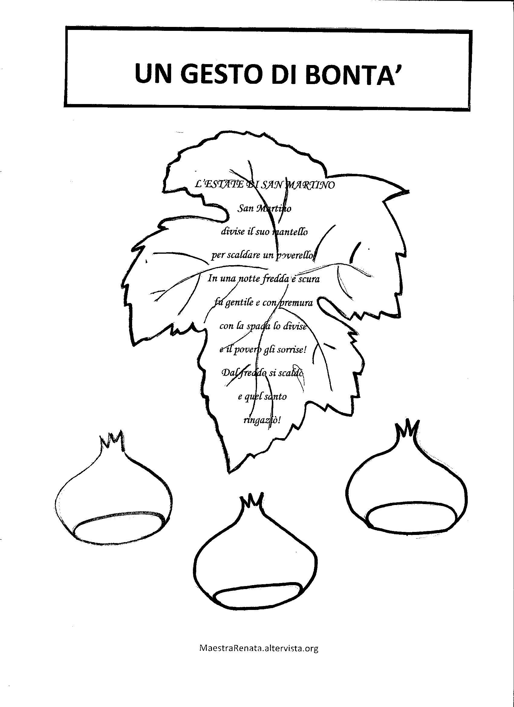 disegni da colorare san martino per bambini di tre anni