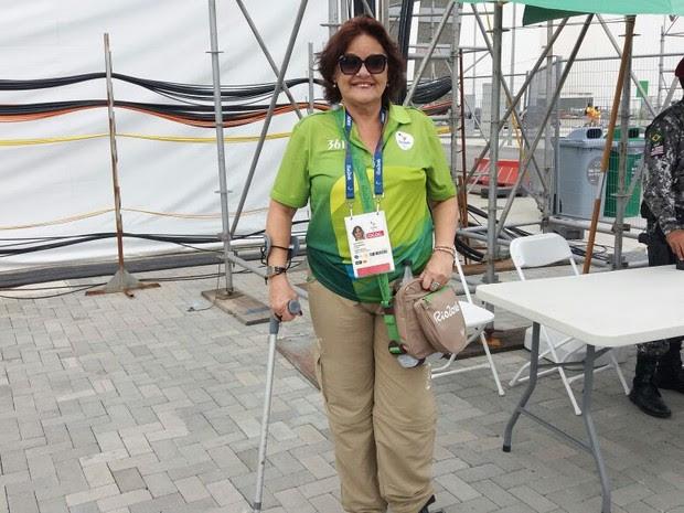 Sylvia Bonete é voluntária na Rio 2016 (Foto: Cristina Boeckel/ G1)