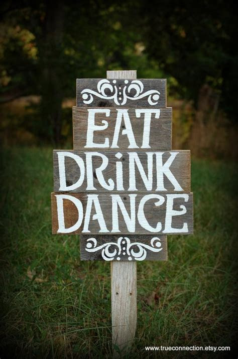 Items similar to Vintage Wedding Reception Signs EAT DRINK