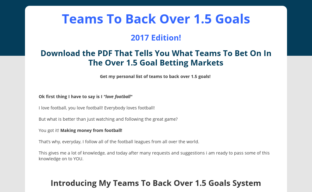 Soccer betting over 2 2.5 paul wills uk trade and investment