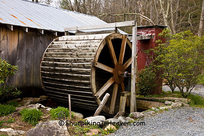 Old Overshot Waterwheel at Old Hampton Grist Mill, Avery County, North Carolina
