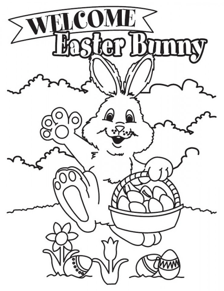 Get This Easter Bunny Coloring Pages for Kids 56731