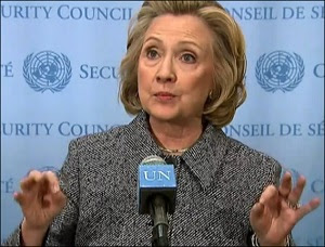 Hillary Clinton at Press Conference on Her Emails While Secretary of State