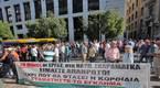 Συγκέντρωση διαμαρτυρίας εργαζόμενων στα Ναυπηγεία Σκαραμαγκά