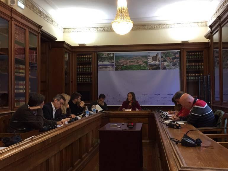 Los representantes de cada partido político en la constitución de la Comisión de Investigación