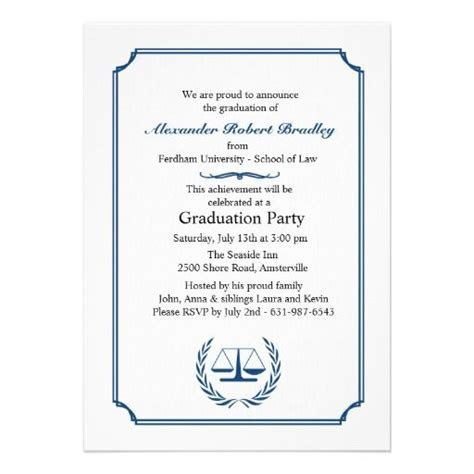 17 Best images about Law School Graduation Invitations on