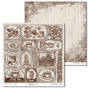 Papier 30x30 cm - Coffee Time -06 Laserowe LOVE