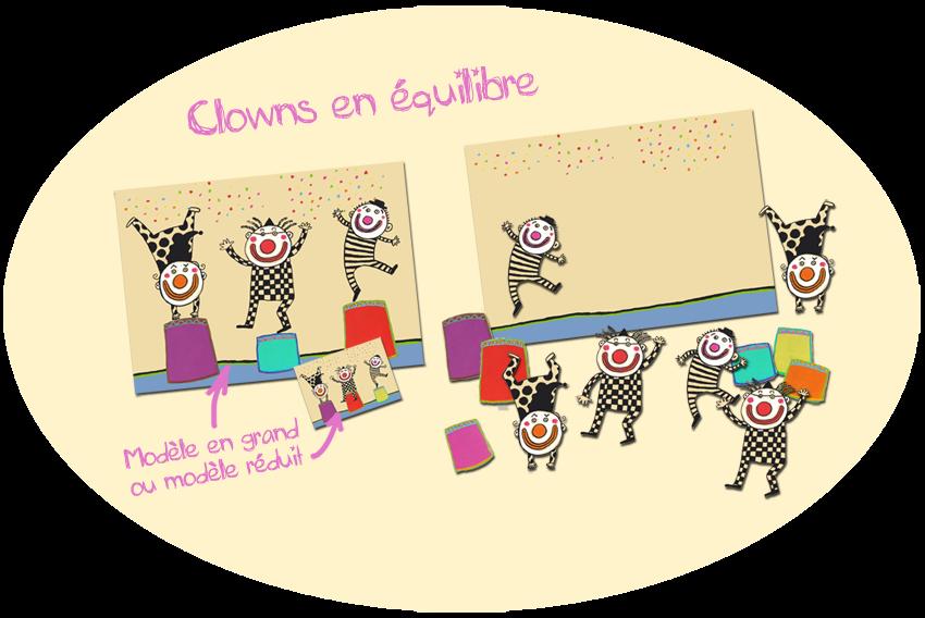 """jeu """"Clowns en équilibre"""" à partir de Billes de clown"""