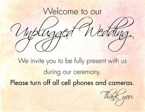 How to have an unplugged wedding: copy 'n' paste wording