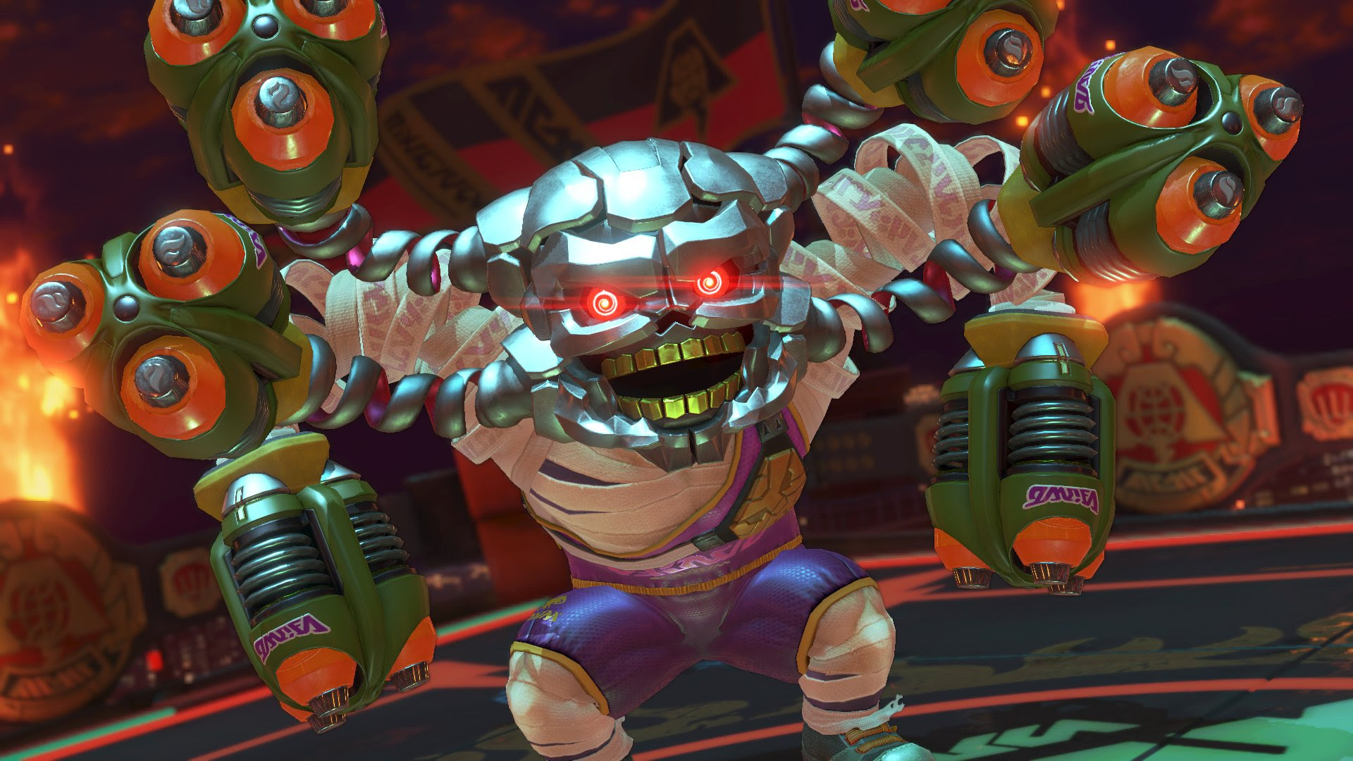 ARMS Twitter account teasing a radical new item screenshot