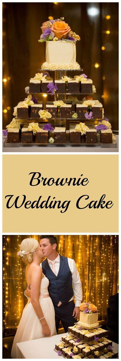 Brownie Wedding Cake   a very sweet start!   Cakes Galore