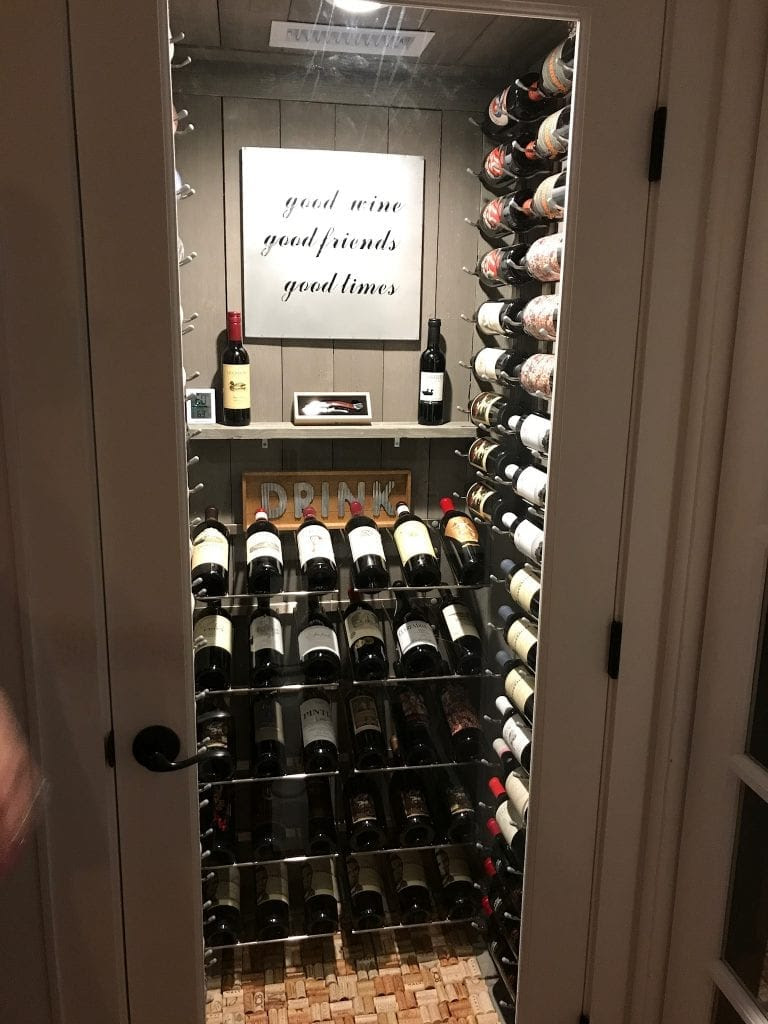 Turning A Water Heater Closet Into A Custom Wine Cellar In Coral