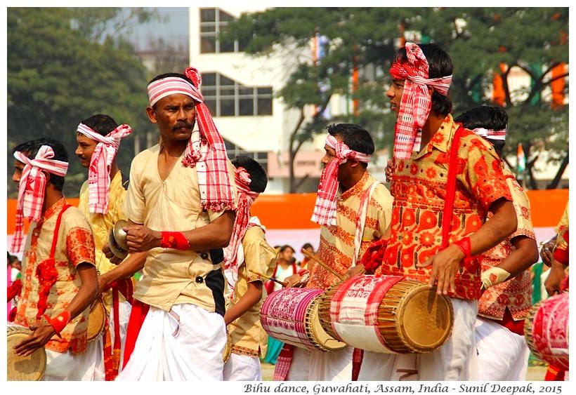 Assamese traditional dress men, Guwahati, Assam, India - Images by Sunil Deepak