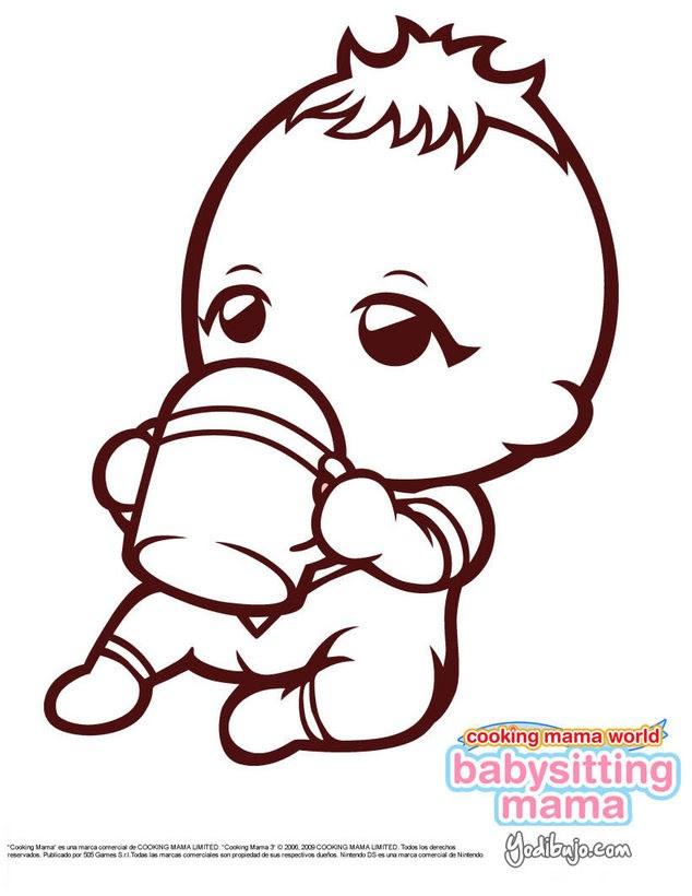 Dibujos Para Colorear Bebes