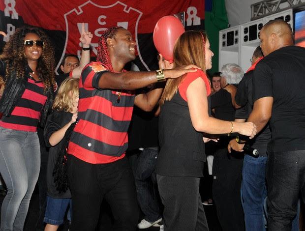 vagner love patricia amorim flamengo (Foto: André Durão/Globoesporte.com)