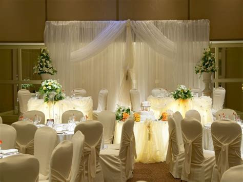 Reception hall decor designs, wedding head table