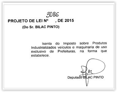 projeto lei bilac