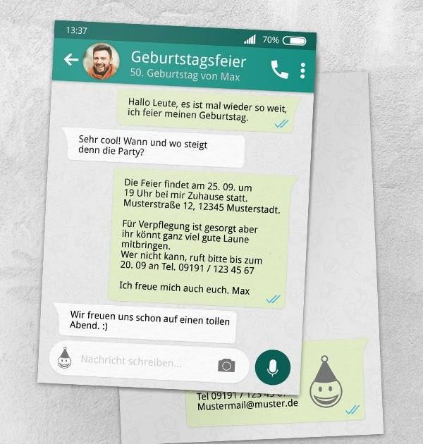 Einladung über Whatsapp