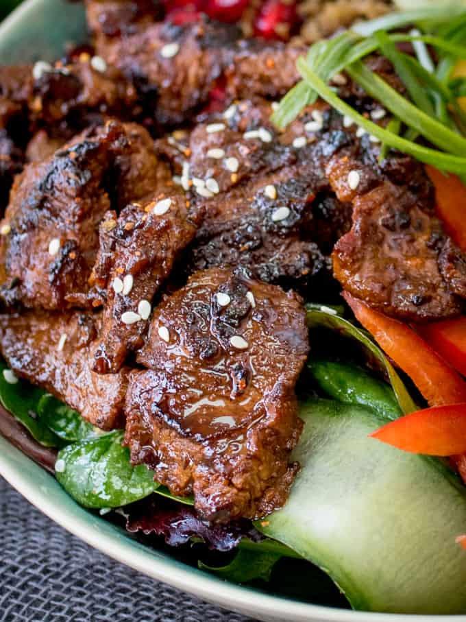 Korean Beef Bulgogi Bowl - Nicky's Kitchen Sanctuary