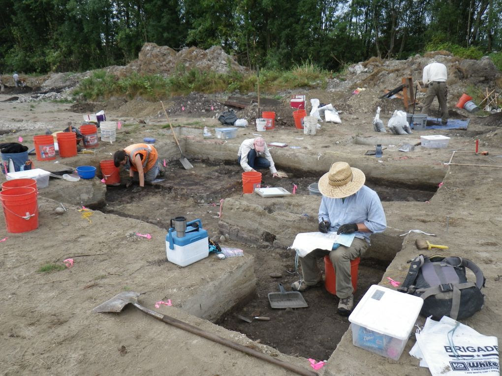 """We were pretty amazed,"" said archaeologist Robert Kopperl of the finds at the site.  Image Courtesy of SWCA Environmental Consultants and The Seattle Times."