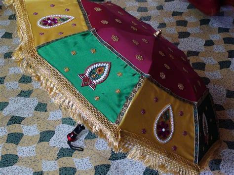 How to decorate an umbrella for Indian Weddings   Mehndi